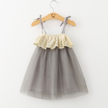 Girls Lace Ruffles Tutu Slip Dress
