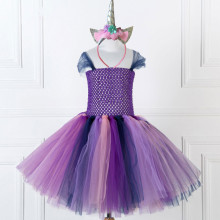 Girl Purple Crocheted Princess Tutu Dress