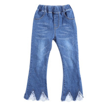 Girls Lace Flared Jeans Bottoms