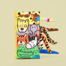 Baby's First 3D Jungly Tails Cloth Book Educational Toy