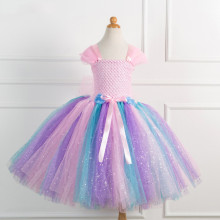 Girl Pink Crocheted Princess Tutu Dress