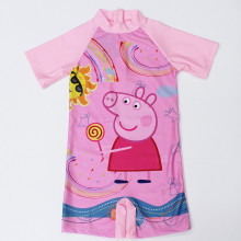 Kid Girl Pink Pig Swimsuit