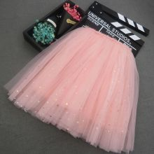 Kid Girl Gold Little Stars Tutu Maxi Skirt