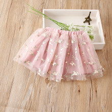 Kid Girl Embroidered Flowers Tutu Skirt