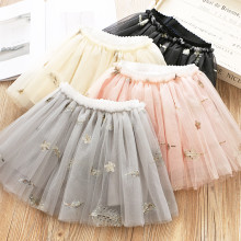 Kid Girl Embroidered Sequins Tutu Skirt
