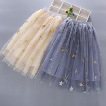 Kid Girl Gold Sequins Stars Tutu Skirt