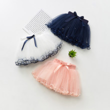 Kid Girl Bowknot Pearls Tutu Skirt