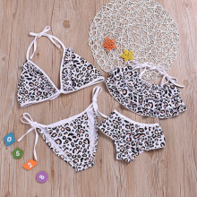 Mommy and Me Leopard Print  Family Matching Bikini Swimwear