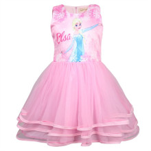 Kid Girl Print Cartoon Princess 3 Layers Tutu Dresses