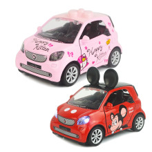 Kid Cartoon Model Vehicles Cars Alloy Pull Back Toy Car With Sound and Light 1/48 Scale For 3Y+