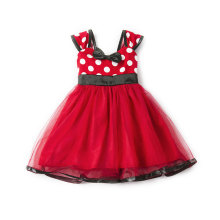 Kid Girl Dots Pompadour Bowknot Tutu Dress