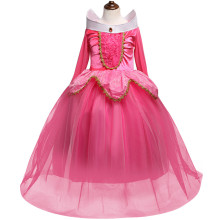 Kid Girl Frozen Princess Dress With Long Sleeve Mesh