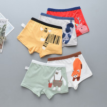 Kid Boys 5 Packs Cute Animals Boxer Briefs Cotton Underwear