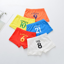 Kid Boys 5 Packs Print Numbers Boxer Briefs Cotton Underwear