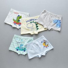 Kid Boys 5 Packs Print Dinosaur Boxer Briefs Cotton Underwear