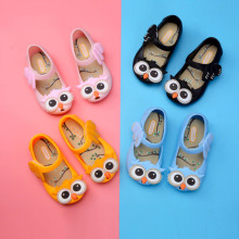Kid Toddler Girl Cartoon 3D Owl Jelly Flats Shoes