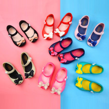 Kid Toddler Girl Cartoon 3D Bowknot Jelly Flats Shoes