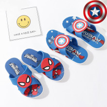 Toddlers Kids Cartoon 3D Captain America Spiderman Flat Beach Slippers
