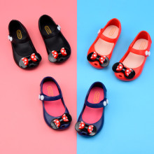 Kid Toddler Girl Cartoon Mini Dots Bowknot Jelly Flats Shoes
