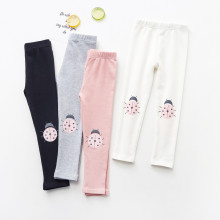 Kid Girl Print Ladybug Cotton Leggings Bottoms