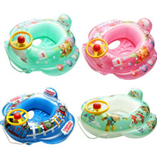 Toddler Kids Pool Floats Inflated Swimming Print Cartoon Sitting Swimming Circle With Steering Wheel (Peppa pig,Thomas,PAW Patrol)