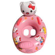 Toddler Kids Pool Floats Inflated Swimming Rings Hello Kitty Sitting Swimming Circle
