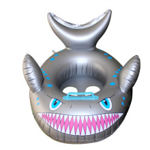 Toddler Kids Pool Floats Inflated Swimming Rings Shark Sitting Swimming Circle