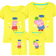 Matching Family Prints Peppa Pig Family T-shirts