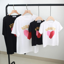 Matching Family Print Red Color Matching Heart T-shirts