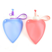 Collapsible Heart Water Bag Free 250ML Food-Grade Silicone Portable Water Bottles