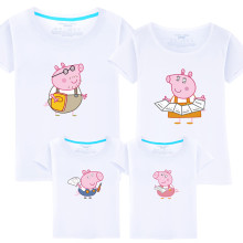 Matching Family Prints Peppa Pig Draw Redding T-shirts