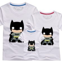 Matching Family Prints Black Batman Famliy T-shirts