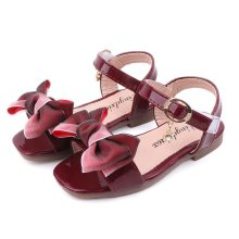 Kid Girl Ombre Bowknot Open-Toed Velcro Sandals