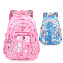 Primary School Backpack Bag Flowers Lightweight Waterproof Bookbag