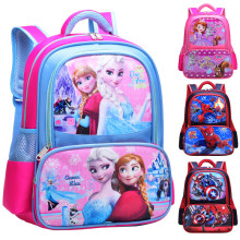 Primary School Backpack Bag Cartoon Frozen Marvel Lightweight Waterproof Bookbag