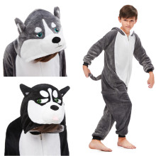 Kids Husky Dog Onesie Kigurumi Pajamas Animal Cosplay Costumes for Unisex Children