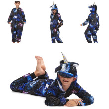 Kids Universe Starry Stars Sky Onesie Kigurumi Pajamas Animal Cosplay Costumes for Unisex Children
