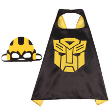 Transformers Halloween Costumes Cosplay Cloak Double Sided Satin Capes with Felt Masks for Kids