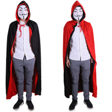 Halloween Vampire Costume Double Faced Hooded Cloak Cape