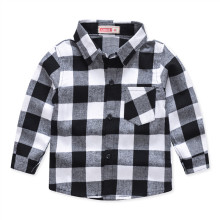 Boys Plaid Cotton Long Sleeves Shirt