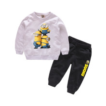 Boys Print 3 Minions Two-piece Sweatshirt and Jogger Pant