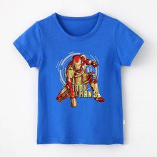Boy Print Iron Man Cotton T-shirt