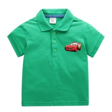 Boys Print Racing Car Cotton Polo T-shirt