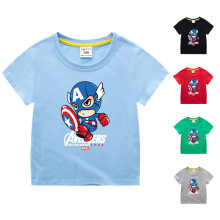 Boys Print Captain America Cotton T-shirt