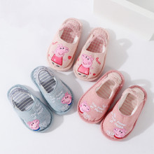 Toddlers Kids Embroidered Peppa Pig Print Letters Warm Winter Home House Slippers