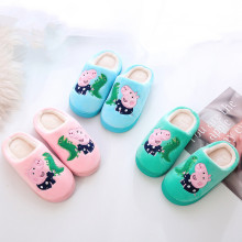 Toddlers Kids Embroidered Peppa Pig George Dinosaur Warm Winter Home House Slippers