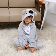 Kids Grey Koala Onesie Kigurumi Pajamas Animal Costumes for Unisex Children