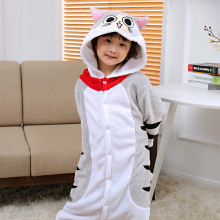 Kids Chi's Sweet Home Grey Cat Onesie Kigurumi Pajamas Animal Costumes for Unisex Children
