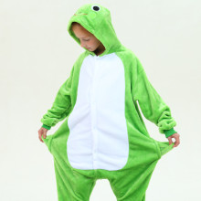 Kids Green Frog Onesie Kigurumi Pajamas Animal Costumes for Unisex Children