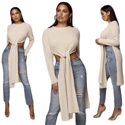 Casual Solid Sweater Long T Shirts CY1081